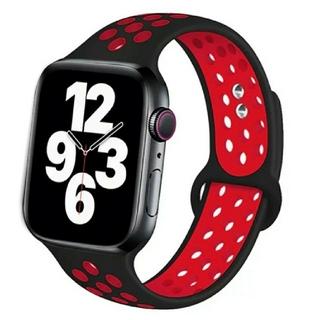 Apple Watch スポーツ バンド 42/44mm ブラック/レッド