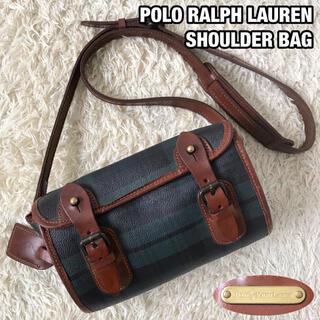 ポロラルフローレン(POLO RALPH LAUREN)の美品✨ポロラルフローレン ショルダーバッグ PVCレザー ネームタグ付き(ショルダーバッグ)