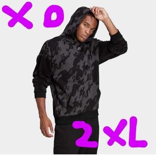 アディダス(adidas)の定価8239円‼️adidas サイズXO 迷彩パーカー黒2XL未使用(パーカー)