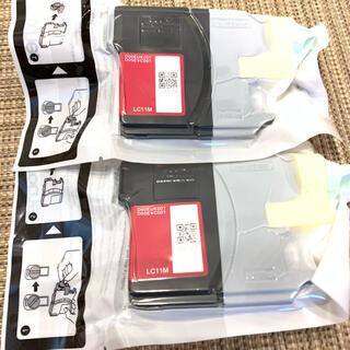 ブラザー(brother)のブラザー  LC11M マゼンダ インク プリンタ 2本セット(PC周辺機器)