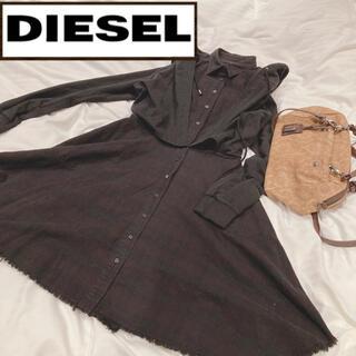 ディーゼル(DIESEL)の☆diesel☆ディーゼル フード付きワンピース(ひざ丈ワンピース)