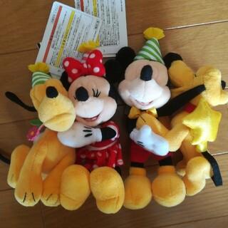Disney - ミッキー ミニー ハッピー バースデー ぬいぐるみバッジ
