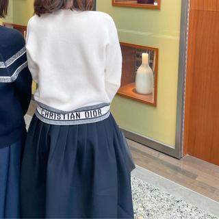 クリスチャンディオール(Christian Dior)のDIOR トラベル カシミヤ ニット セーター バックロゴ  34(ニット/セーター)