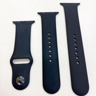 アップルウォッチ(Apple Watch)のアップルウォッチ スポーツバンド 黒 Apple Watch 42/44mm 用(ラバーベルト)