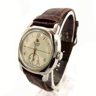 アザー(other)のロゼモン ROSEMONT 腕時計 スイス製 レザーベルト 型押し 茶 ブラウン(腕時計)