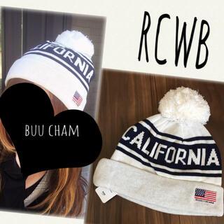 RODEO CROWNS WIDE BOWL - RCWB♡CALIFORNIA ニット帽 ボンボン付き