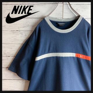 NIKE - 【最高デザイン】オールドナイキ ワンポイントロゴ刺繍 半袖リンガーTシャツ 希少
