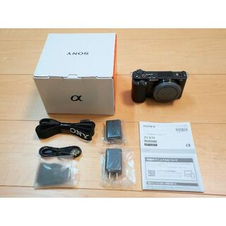 SONY - SONYソニーVLOGCAM ZV-E10黒 デジタルカメラ●新品
