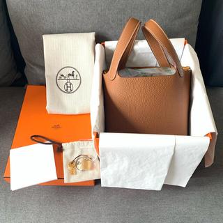Hermes - 【新品】Hermès ピコタン PM横18cmサイズ ゴールド&ゴールド Z刻印