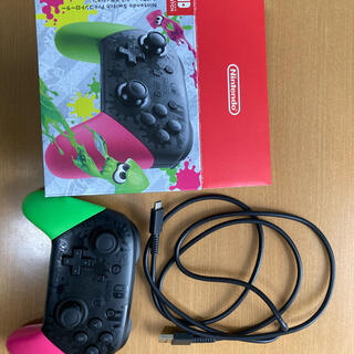 Nintendo Switch - 任天堂 純正 プロコントローラー(プロコン) スプラトゥーン 中古