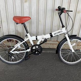 折りたたみ 自転車 20インチ シマノ 6段変速ライトカギ