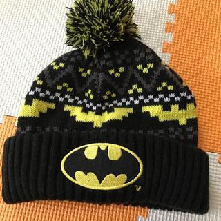 エイチアンドエム(H&M)のH&M バッドマンニット帽 51-53センチ 美品(帽子)
