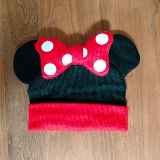 ミニーマウス(ミニーマウス)のミニー ニット帽(キャラクターグッズ)