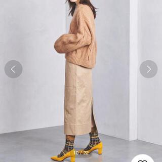 UNITED ARROWS - チノ CINOH ベージュ カーゴスカート 長め丈 スリットあり