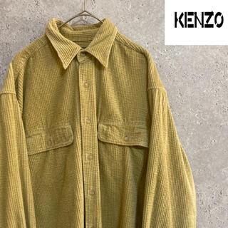 ケンゾー(KENZO)の90S ケンゾー kenzo  コーデュロイ シャツ メンズM 古着 ゆるダボ(シャツ)