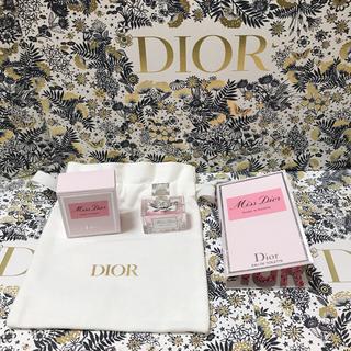 Dior -  Diorミスディオールローズ&ローズ5ml&1ml&ミニ巾着