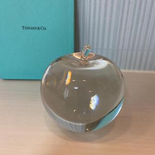 Tiffany & Co. - ティファニー ペーパーウエイト クリスタルアップル りんご オブジェ インテリア