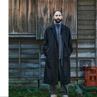 COMOLI - auralee スタイリスト私物 ステンカラーコート ブラック