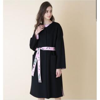 レオナール(LEONARD)の☆専用品☆ 未使用 レオナール 今期初春発売品 ウールコート かなり大きめ40(ロングコート)