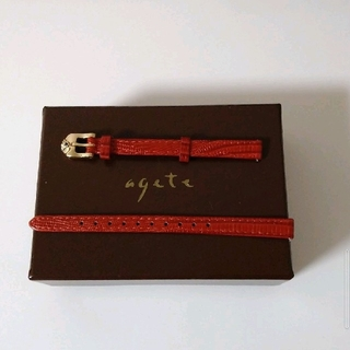 agete - 【未使用】アガット*agete *時計用革ベルト レザーベルト
