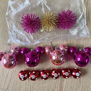 Disney - ディズニークリスマスオーナメント13個セット/ピンク
