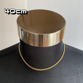 ゴールド チェーンネックレス 【40cm】メンズ ネックレス アクセサリー