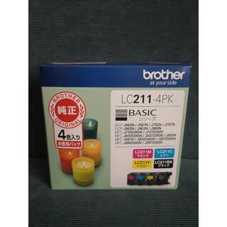ブラザー(brother)の【新品】 純正 ブラザー インクジェットカートリッジ LC211-4PK(PC周辺機器)