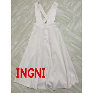 イング(INGNI)の新品!イング コーデュロイワンピース ホワイト(ミニワンピース)