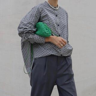 machatt マチャット スタンドカラーオーバーシャツ ドット柄(シャツ/ブラウス(長袖/七分))