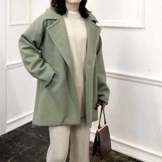Mila Owen - 【新品タグ付き】シンプルショート丈コート【グリーン】