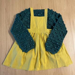 ザラキッズ(ZARA KIDS)の韓国子供服 エプロンスカート yellow(スカート)