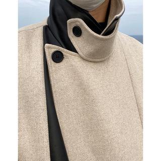 マルタンマルジェラ(Maison Martin Margiela)のASCLO Lable Point Leather Double Coat(トレンチコート)