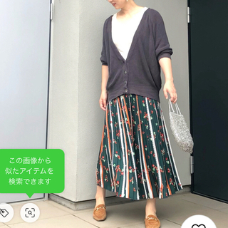 イエナ(IENA)のピザポテト様専用 IENA ドットフラワープリーツスカート 38(ロングスカート)
