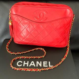 CHANEL - 正規品◆美品 CHANEL シャネル フリンジチェーンショルダー レッド