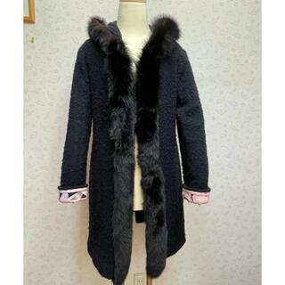 レオナール(LEONARD)のレオナール フォックスファー付きコート(毛皮/ファーコート)