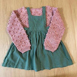 ザラキッズ(ZARA KIDS)の韓国子供服 エプロンスカート green(スカート)