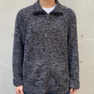 アメリヴィンテージ(Ameri VINTAGE)のvintage zebra zip up sweater sullen(ニット/セーター)