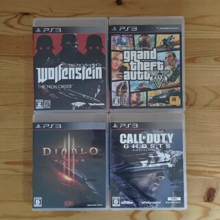 プレイステーション3(PlayStation3)のグランド・セフト・オートV PS3 他3本(家庭用ゲームソフト)