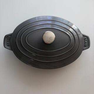 ストウブ(STAUB)のstaub オーバルホットプレート グラファイトグレー(鍋/フライパン)