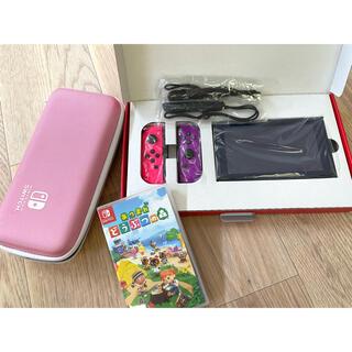 Nintendo Switch - ニンテンドースイッチ あつ森 アクセサリーセット ネオンピンク ネオンパープル
