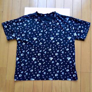 サンリオ(サンリオ)のけろけろけろっぴ   柄 Tシャツ 黒 L 総柄 けろっぴ サンリオ レディース(Tシャツ(半袖/袖なし))
