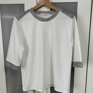 ディーホリック(dholic)の【DHOLIC】韓国ファッション ツイードトップス(Tシャツ(半袖/袖なし))