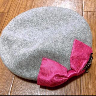 アースマジック(EARTHMAGIC)の25. リボン ベレー帽 52 グレー(帽子)