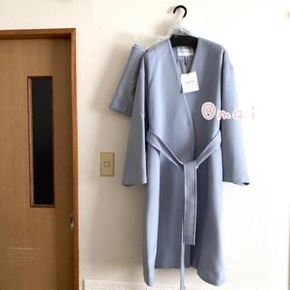 Mystrada - 新品未使用タグ付き‼︎ ストール付きノーカラーコート ロングコート ブルー
