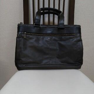 タケオキクチ(TAKEO KIKUCHI)の美品☆タケオキクチ メンズ ビジネスバッグ ブリーフ ブラック(ビジネスバッグ)