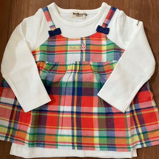 HOT BISCUITS - ホットビスケッツ チェック柄レイヤード風長袖Tシャツ