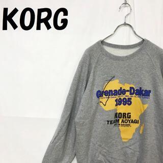 コルグ(KORG)の【人気】コルグ ロゴプリント トレーナー Grenade Dakar 1995 (スウェット)