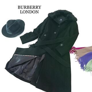 バーバリー(BURBERRY)のBURBERRY LONDON バーバリー コート ブラック  レディース(ロングコート)