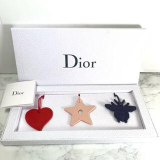 ディオール(Dior)の非売品 未使用 Dior ディオール 限定レザーチャーム 3点セット(ノベルティグッズ)