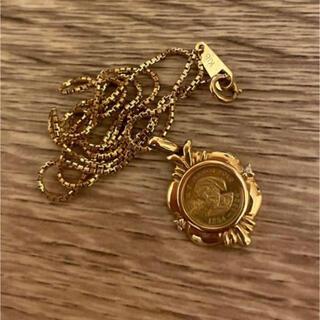 総重量5.5g! 24金コインネックレス18金ネックレス付き 金貨 k24